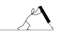 Stickman drawing a stickfigure